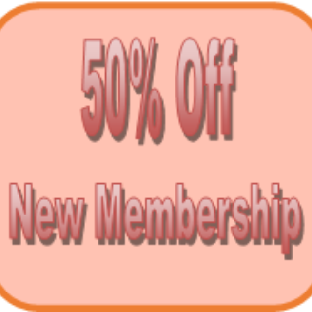 Half Price Annual Membership for New Members